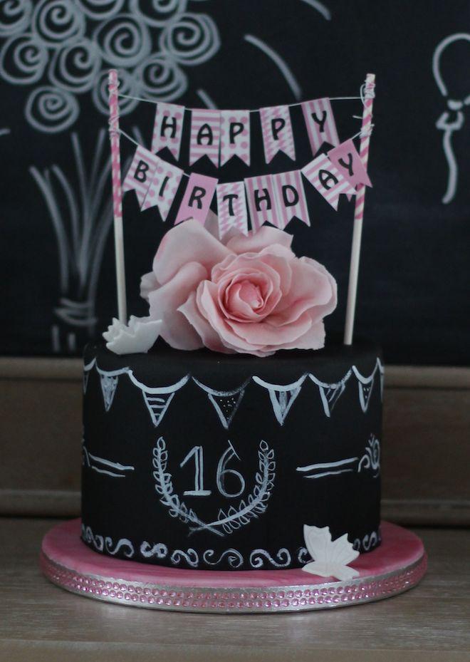 Love Of Cake Inspirieren Probieren Teilen Sweet 16 Chalkboard