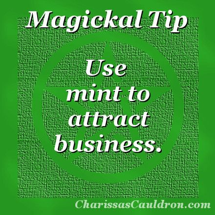 Magickal Tip - Minty Fresh Business – Charissa's Cauldron