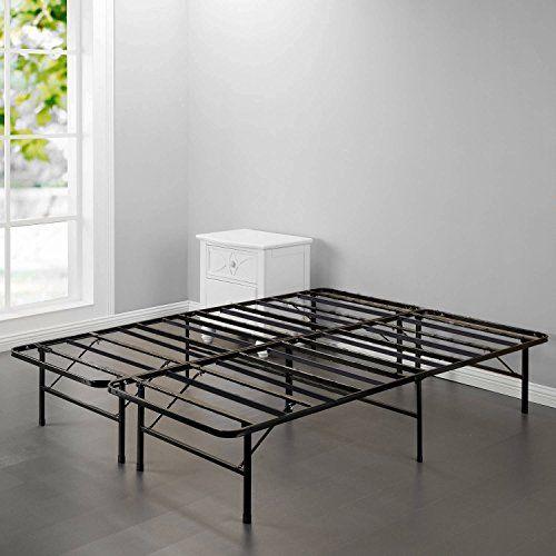 Bed Frame Platform Folding Bed Frame King Metal Base Mattress Foundation Frame 14 Inch Portable Metal Bed Frame Folding Bed Frame Platform Bed Frame