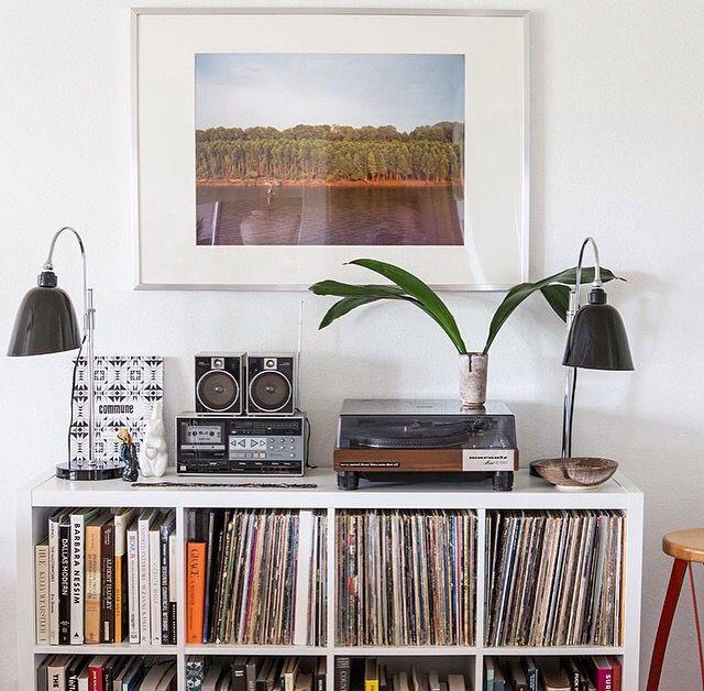 Record storage ikea diy lp vinyl record storage box with for Record case ikea