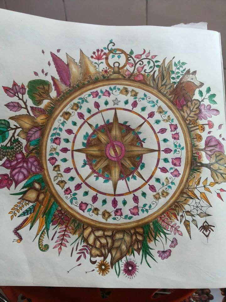 Cristal Almeida Johanna BasfordAdult ColoringColouringColoring BooksCompass MindfulnessCompass RoseColour BookForests