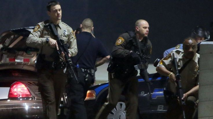 Two police officers were shot during overnight protests in Ferguson, Missouri, the St. Louis County Police Department said.