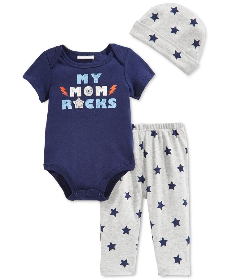 First Impressions Baby Boys Piece Mom Rocks Bodysuit