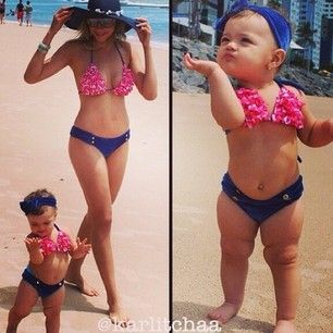 Mommy & me. Swim suit! How adorable!!!