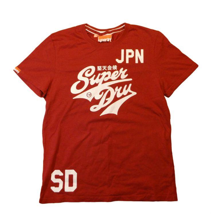 Super Dry t-shirt men's original size XL 100% cotton logo #SuperDry #tshirt
