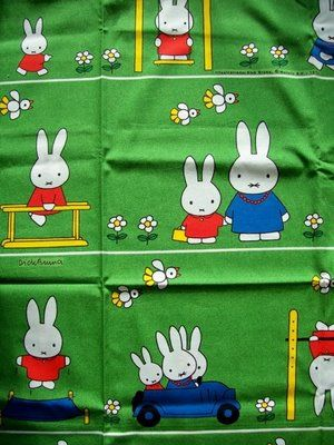 Miffy vintage fabric - LOVE WANT! Soo Cute...brings back childhood memoires...use to be my fave book as a kid!