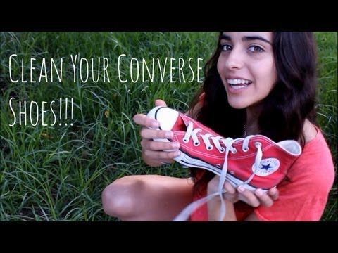 ▶ How to: clean Converse shoes + Tips - YouTube