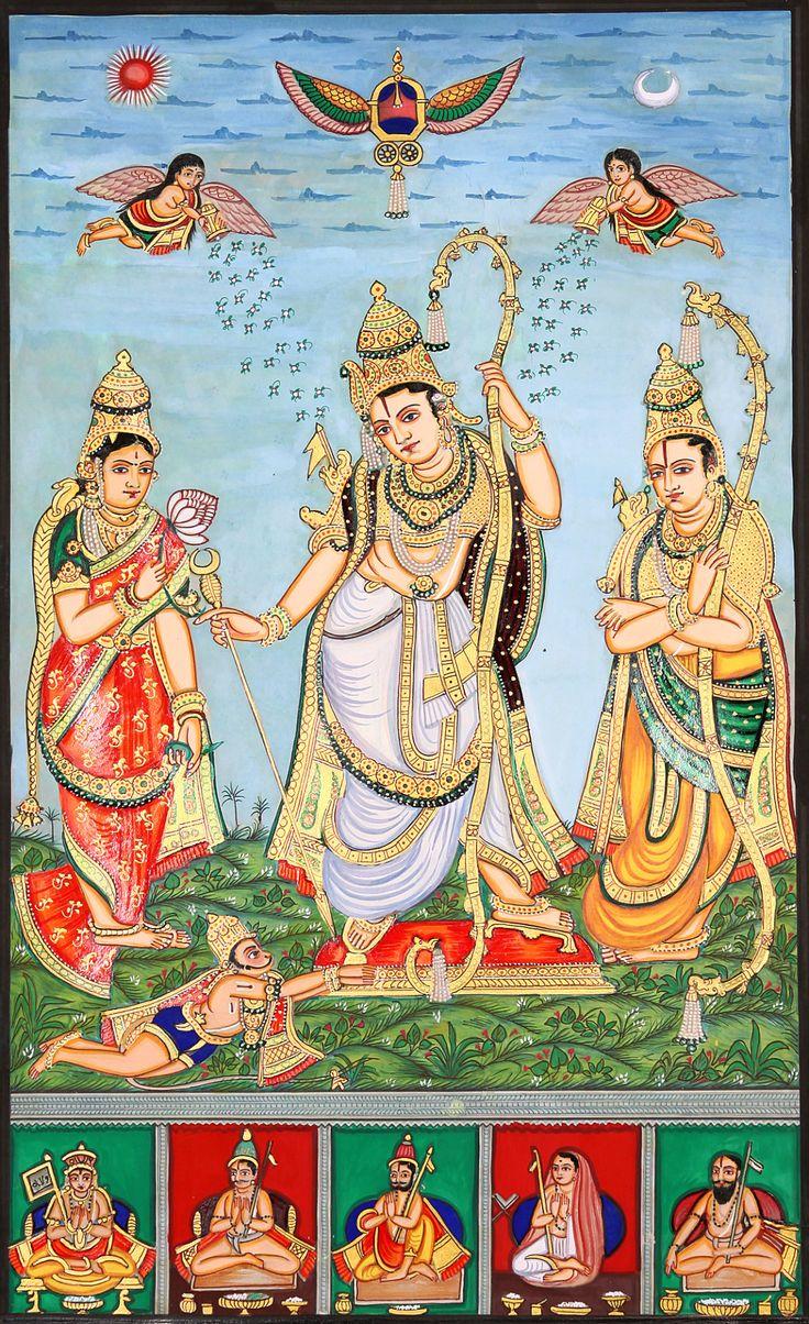 "arjuna-vallabha:  ""  Sita, Rama , Lakshmana and Hanuman and vaishnavas acaryas  """