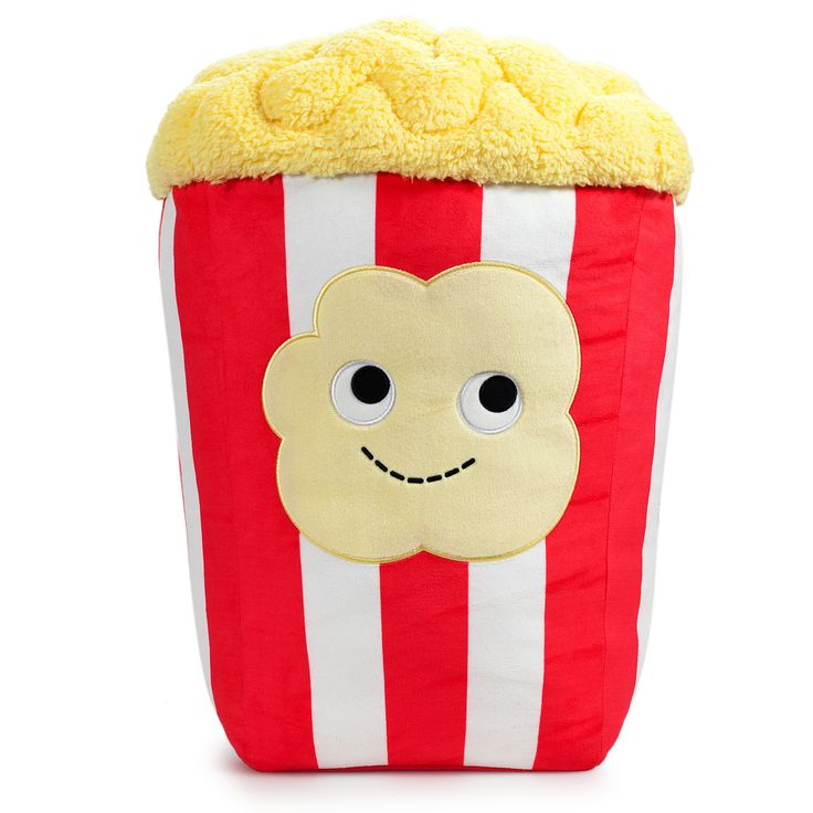 Peter Popcorn loves to watch movies with extra butter! Bring him home to watch some Netflix! Peter is a super soft GIANT 24-inch tall plush! Special Order. This is a special order item - approximately