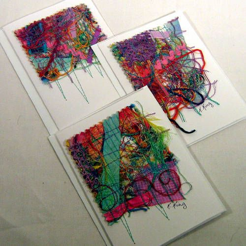 Scrap Fabric Note Cards (Updated 3/26) - PAPER CRAFTS, SCRAPBOOKING & ATCs (ARTIST TRADING CARDS)