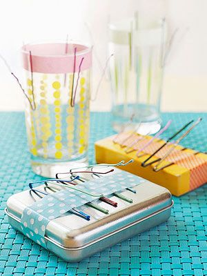 Pinstruments: washi tape + bobby pins + everyday objects like boxes, tins and glasses | FamilyFun Magazine