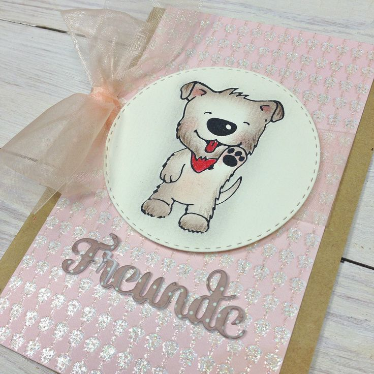 Cute puppy dog stamp designed by Baerbel Born, manufactured by Kulricke.de