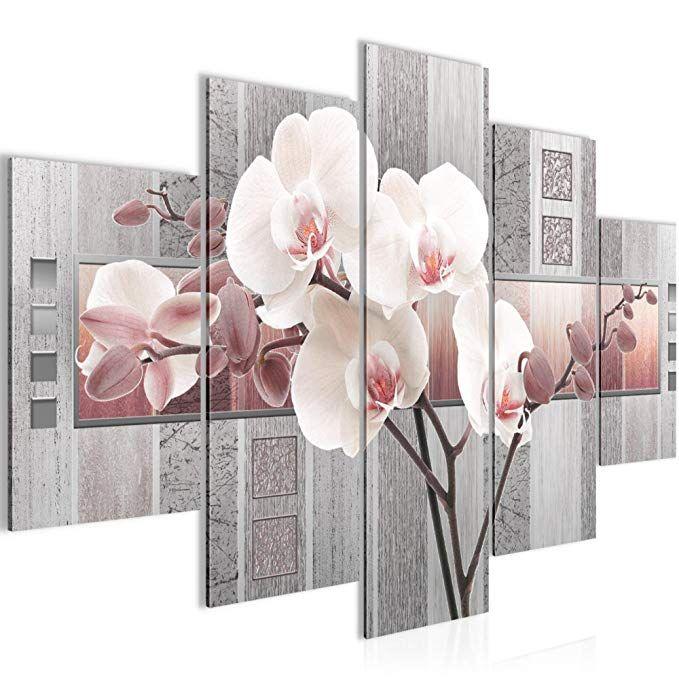 affiliate bild 150 x 100 cm blumen bilder vlies leinwand deko fur wohnzimmer wandbild xxl 5 teilig teile leichtes wand my foto auf 40x60