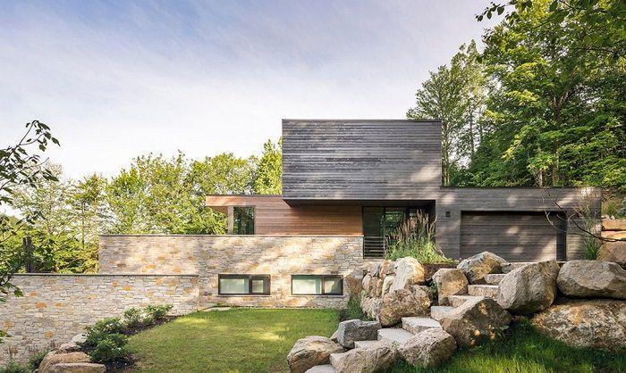 Una magnífica residencia que se adapta a su entorno construida con materiales locales #architecture #nature #forest #treehouse #home #green #arquitectura #naturaleza #ecofriendly #travel #eco #sostenible