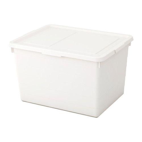 SOCKERBIT Fedeles doboz IKEA A szezonális ruháktól a cipőkön, sportszereken át a szerszámokig szinte bármit tarthatsz ebben a praktikus tárolóban.