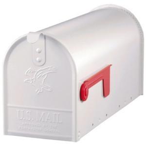 US Mailbox / Amerikaanse Brievenbus Wit Staal -Brievenbus Webshop - goedkopere verzendkosten