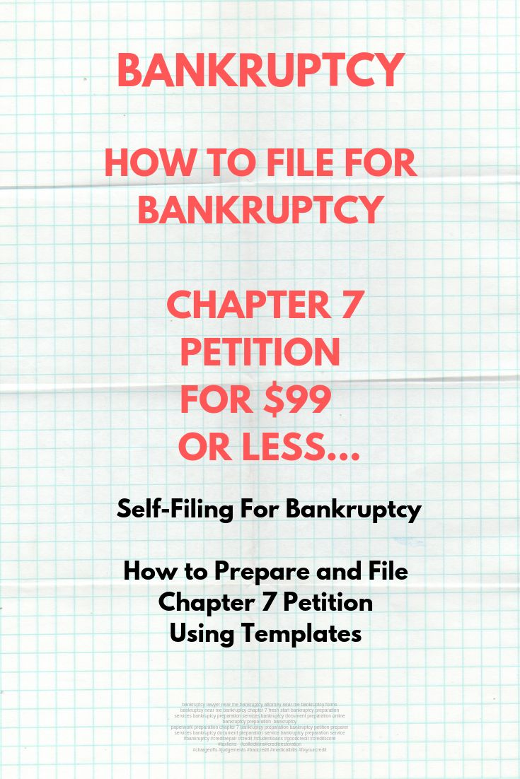 Here you will find out what is bankruptcy, how to file