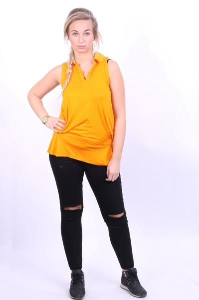 Adidas Stella McCartney Womens M Sleeveless Tunic Top Dress Flounce Bright Orange Peter Pan Collar - RetrospectClothes