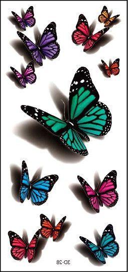 Флаш цветна татуировка пеперуда стикер 3D водоустойчиви 19 * 9см въоръжават Henna Tatoo лято стил Tatto временно боди арт безплатна доставка за временни татуировки Health & Beauty на AliExpress.com | Alibaba Group
