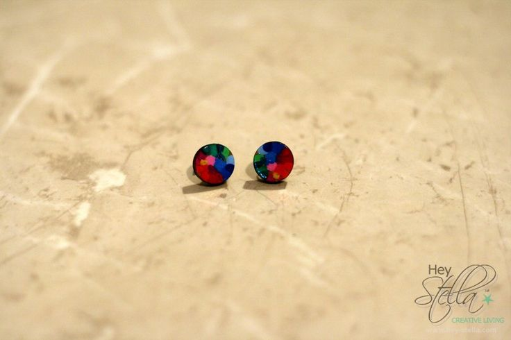 Rainbow earrings  Available online at www.hey-stella.com