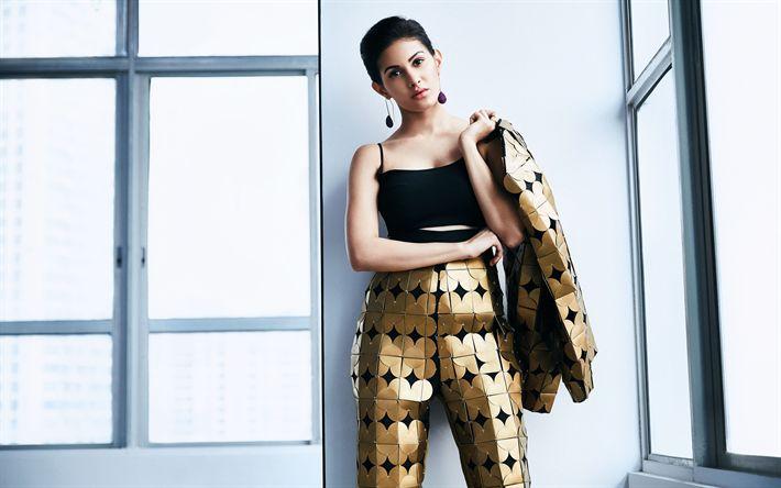 Download imagens Amyra Dastur, 4k, A atriz indiana, Bollywood, morena, maquiagem, As mulheres indianas, Moda indiana modelo