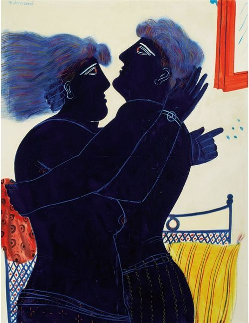 .:. Alecos Fassianos (Greek, b. 1935), The Kiss, 1979.