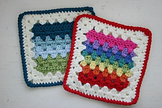 Granny Stripes Square ~ pattern: Squares Patterns, Squares Crochet, Crochet Squares,  Dishcloth, Granny Squares, Felt Buttons, Crochet Patterns, Stripes Squares, Granny Stripes