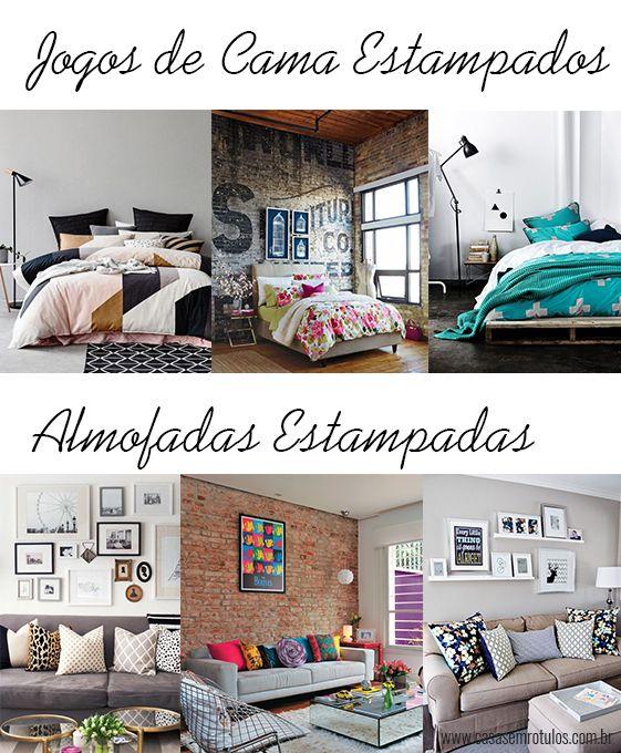 Casa Sem Rótulos, como usar estampas na decoração, estampas, combinar estampas, jogos de cama estampados, colchas estampadas, quarto colorido, almofadas, almofadas estampadas