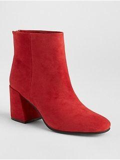 ac346ea32dd GAP Square-Toe Block Heel Boots SALE  59
