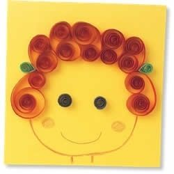 Mother Day Craft - self portrait with curls