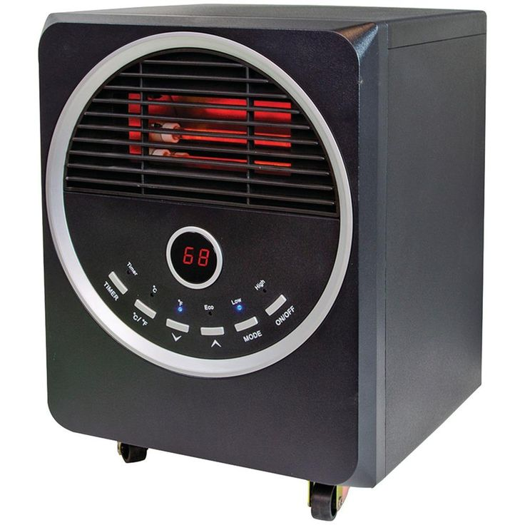 Comfort Zone Quartz Infrared Heater With Remote
