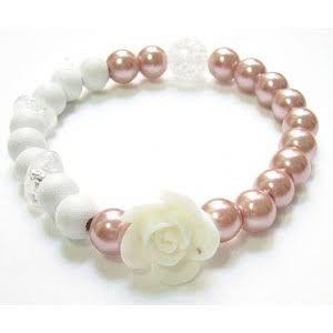 Resultado de imagen para como hacer pulseras con perlas y cristales