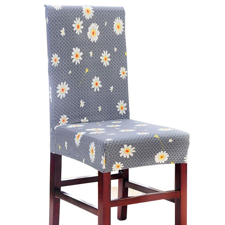 Daisy Flower Stretch Chair Cover stuhlbezug Spandex polyester bureaustoel hoes dining chair covers