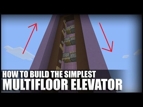 How To Build A Simple Multifloor Elevator in Minecraft (TU46 CU36) - YouTube