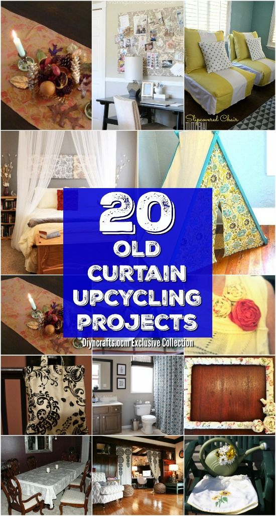 20 Repurposing Ideas To Make Good Use Of Old Curtains - Wonderful ways to upcycle old curtains! <3 via @vanessacrafting