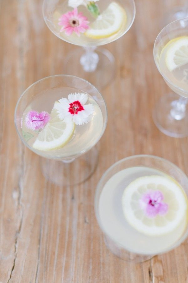 These sparkling floral lemon drops are almost too pretty to drink.