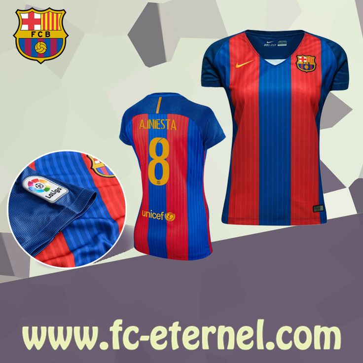 fc-eternel:Maillot FC Barcelone Femme A.INIESTA 8 Domicile 2016/2017 Personnalise