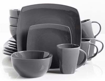 1. Gibson Soho Lounge Gray Dinnerware Set