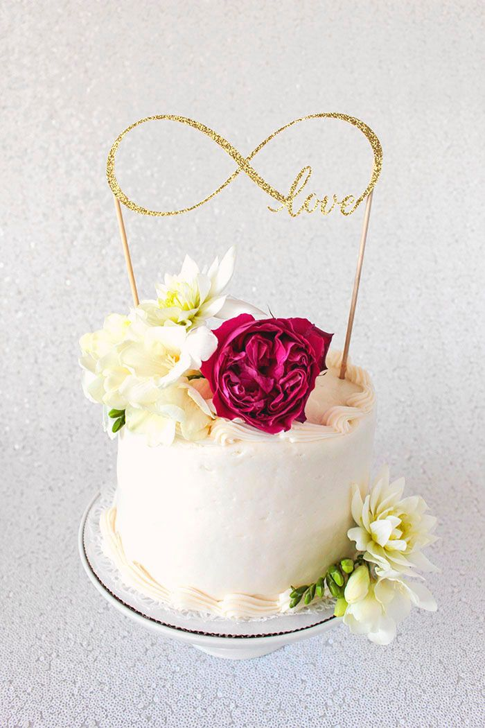 Infinity Sign Cake Topper for a Wedding