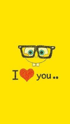 スポンジボブ。愛してるのおしゃれイメージ画像