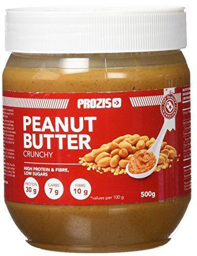 Prozis Peanut Butter 500g - Deliciosa y de Textura Cremosa - Fuente Natural de Proteína - Apta para Dietas Veganas, Kosher y Halal - Sin Sal Añadida y Sin Grasas Trans #Prozis #Peanut #Butter #Deliciosa #Textura #Cremosa #Fuente #Natural #Proteína #Apta #para #Dietas #Veganas, #Kosher #Halal #Añadida #Grasas #Trans