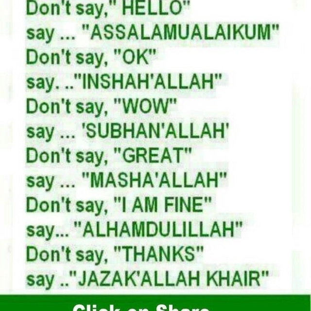 Islamic Words Used Daily!