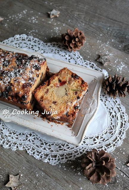COOKING JULIA : CAKE DE NOËL À LA PÂTE D'AMANDE ET AUX FRUITS CONFITS