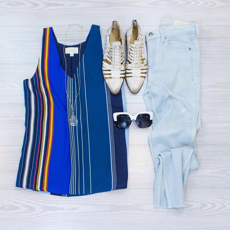 Top Notch Feelin sassy with a side of classy? This outfit from www.shopelysian.com should do the trick West End Sunnies in Black/White Smoke $44. in-store only. Now You See Me Gold Necklace $26. in-store only.  Straight to the Point Stripe in Teal $34. online  in-store. Everyday Comfort High Rise Skinny $72. in-store only.  Bed Stu La Cruces Flat $190. in-store only. Don't forget you can call to purchase any items even ones that are in-store only! 479.464.9261 #WearElysianDaily…