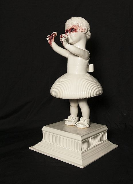 Best Maria Rubinke Images On Pinterest Weird Art Ceramic Art - Amazingly disturbing porcelain figurines by maria rubinke