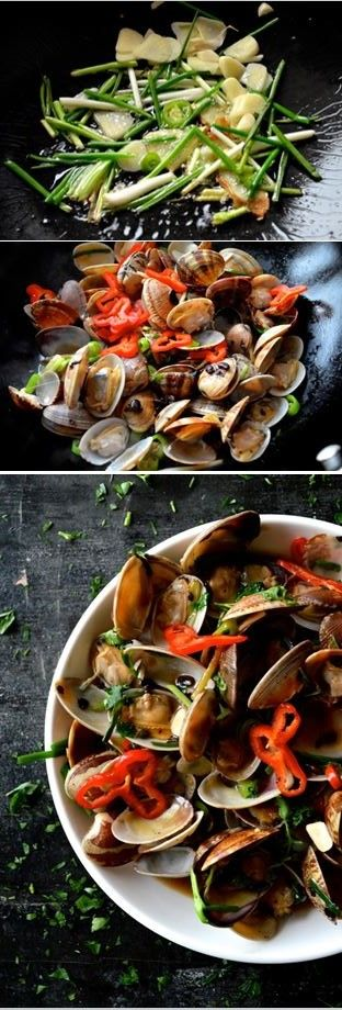Stir Fry Clams in Black Bean Sauce