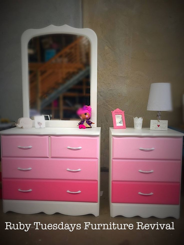 Ombre Girls set of Drawers