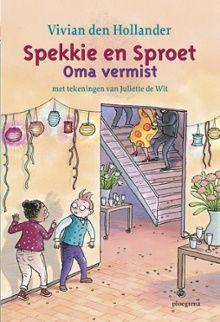 Spekkie en Sproet : oma vermist van Vivian den Hollander. De oma van Spekkie is jarig. Ze geeft een groot feest in een museum. Maar dan is oma opeens verdwenen. Spekkie en Sproet komen in actie! Vanaf ca. 7 jaar.