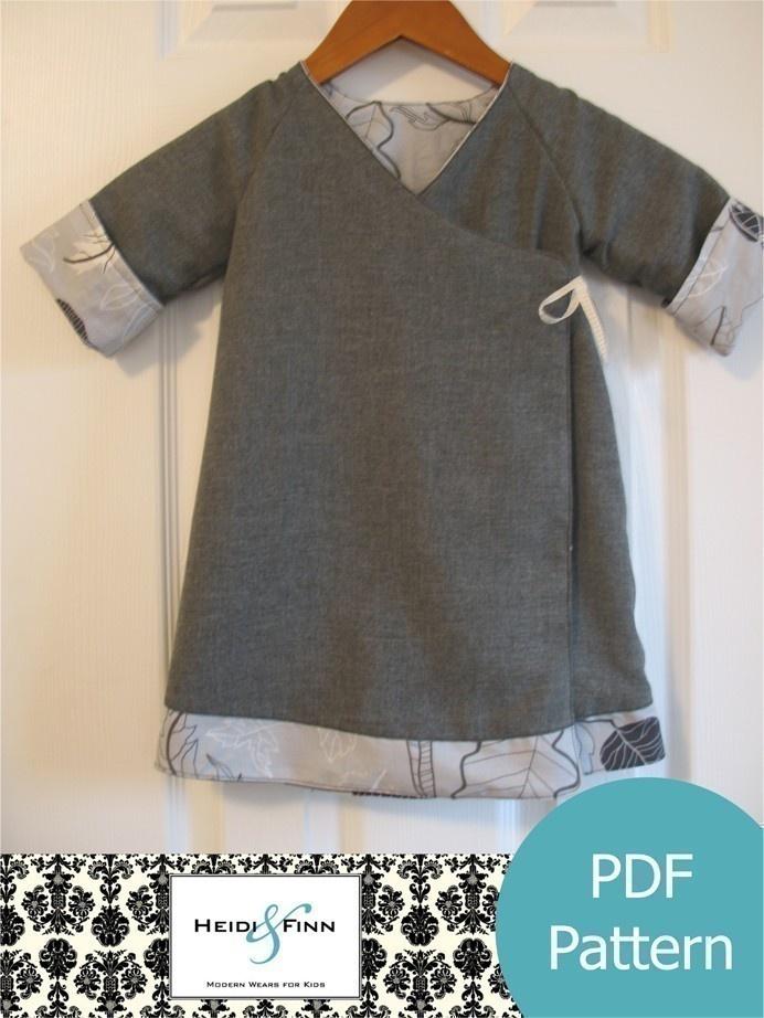 Sweet Wrap Reversible Dress Pattern And Tutorial 12m 6t