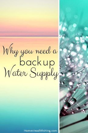 Would you like to know the basics of having a backup water supply? Why do you need one? How do you store water? Here are some tips for storing water. | http://homesteadwishing.com/backup-water-supply/ | Homestead Wishing, Author Kristi Wheeler | water-sto